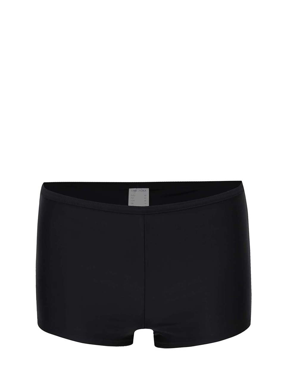 Černý spodní díl plavek s nohavičkami Gina Laura