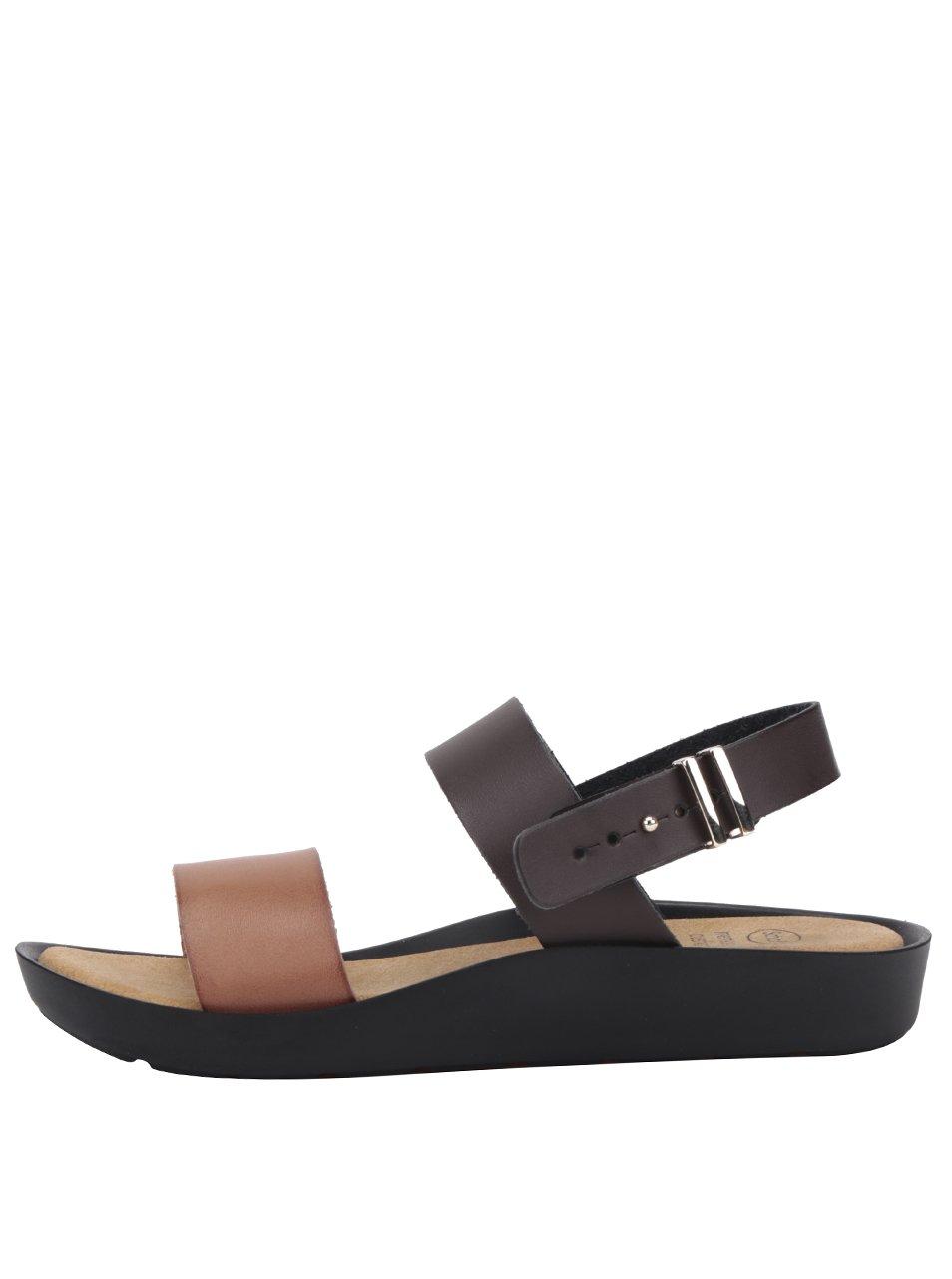 Tmavě hnědé dámské zdravotní sandály Scholl Mamore