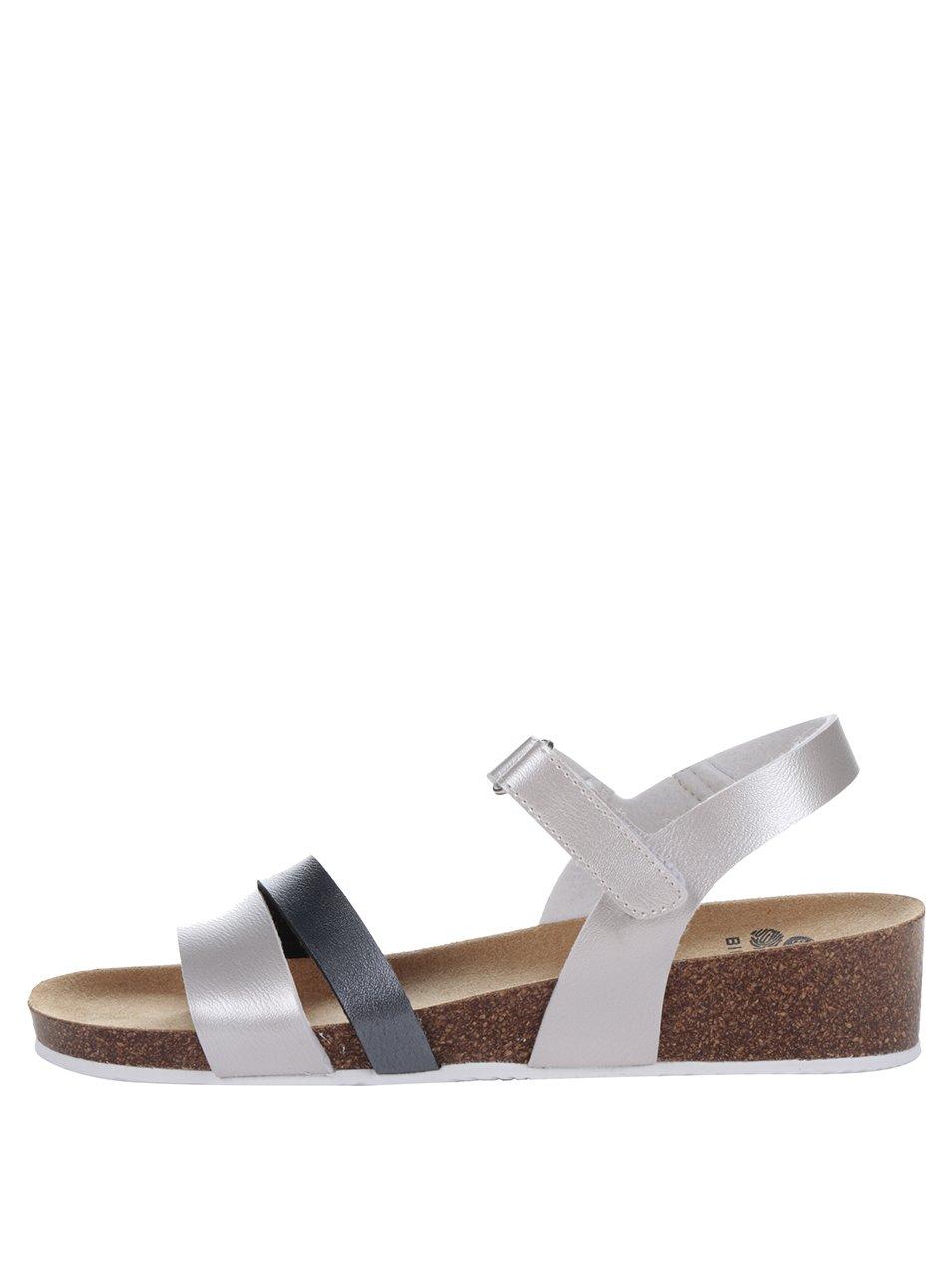 Šedé dámské zdravotní sandály Scholl Adalia