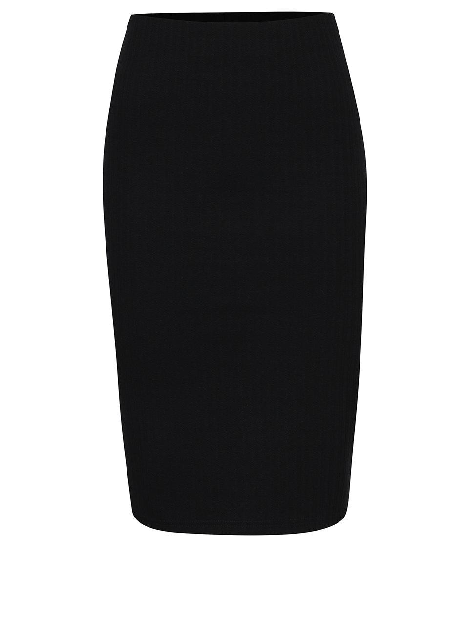 Černá pouzdrová sukně s jemným vzorem VERO MODA Ellie