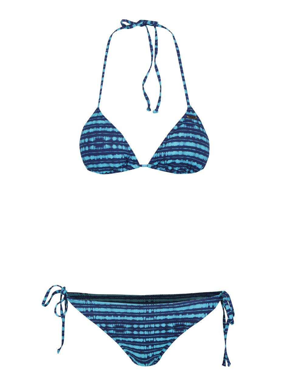 Modré dámské pruhované dvoudílné plavky Roxy Pop
