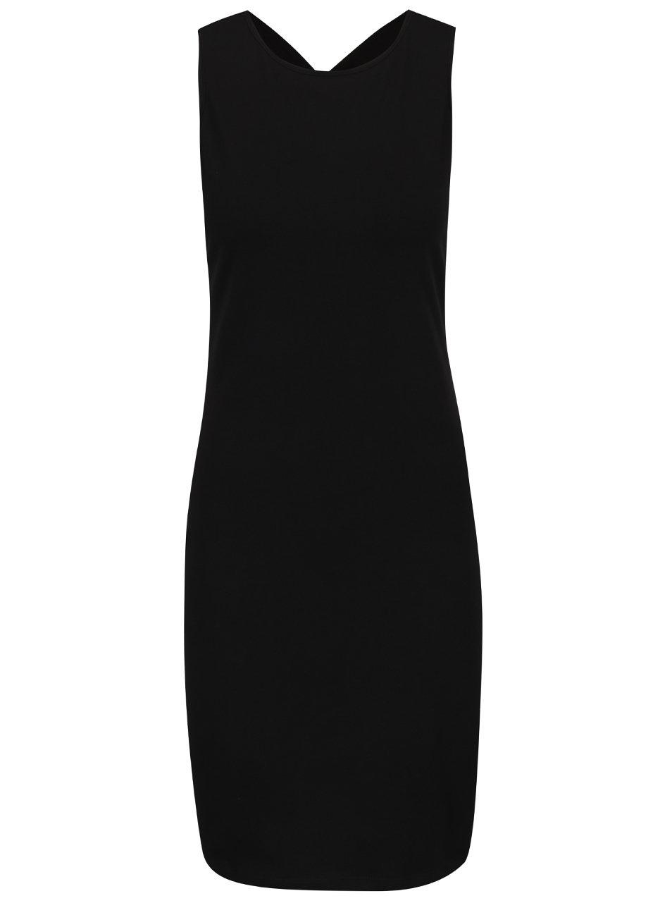 Černé šaty s pásky na zádech Noisy May Laila
