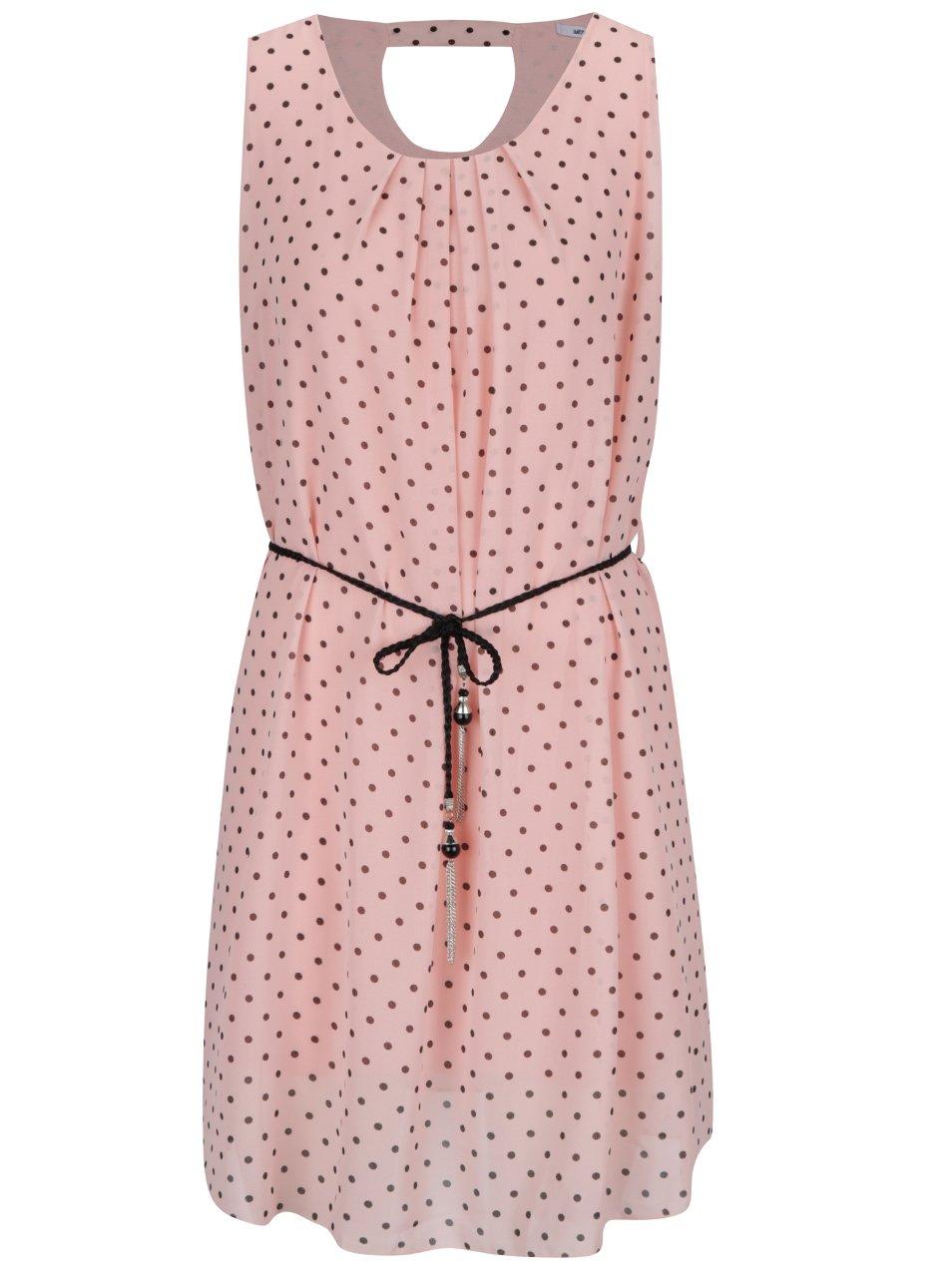 Růžové puntíkované šaty Haily's Lotta
