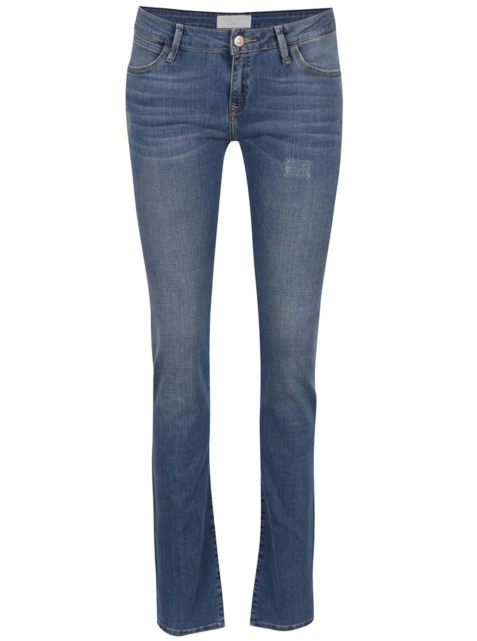 Modré dámské rovné džíny Cross Jeans