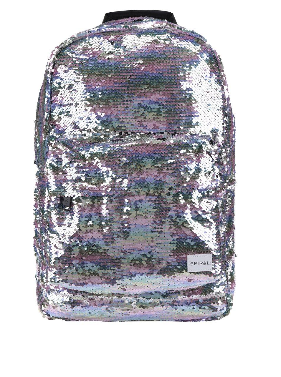 Dámský batoh s metalickými odlesky a flitry Spiral 18 l