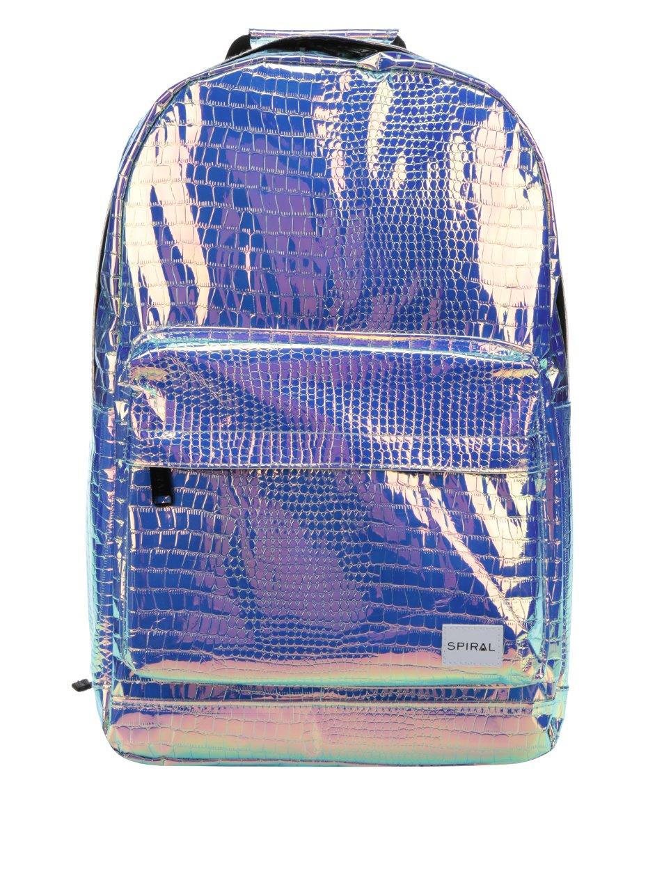 Holografický dámský batoh s hadím vzorem Spiral 18 l