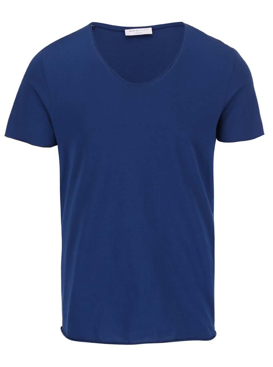 Modré triko Selected Homme Merce