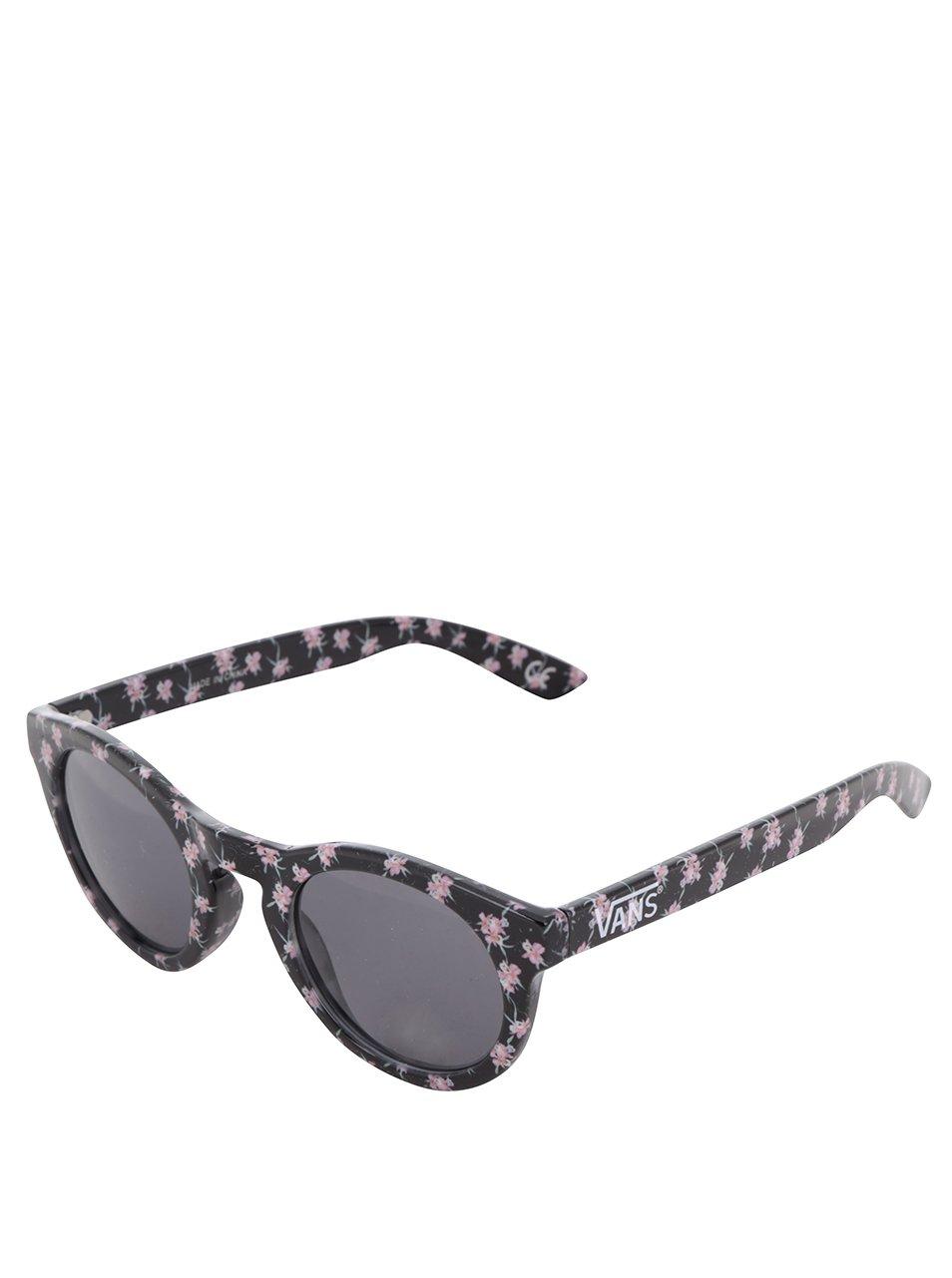 Černé dámské květované sluneční brýle Vans