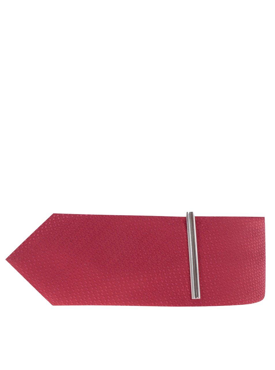 Červená vzorovaná kravata Burton Menswear London