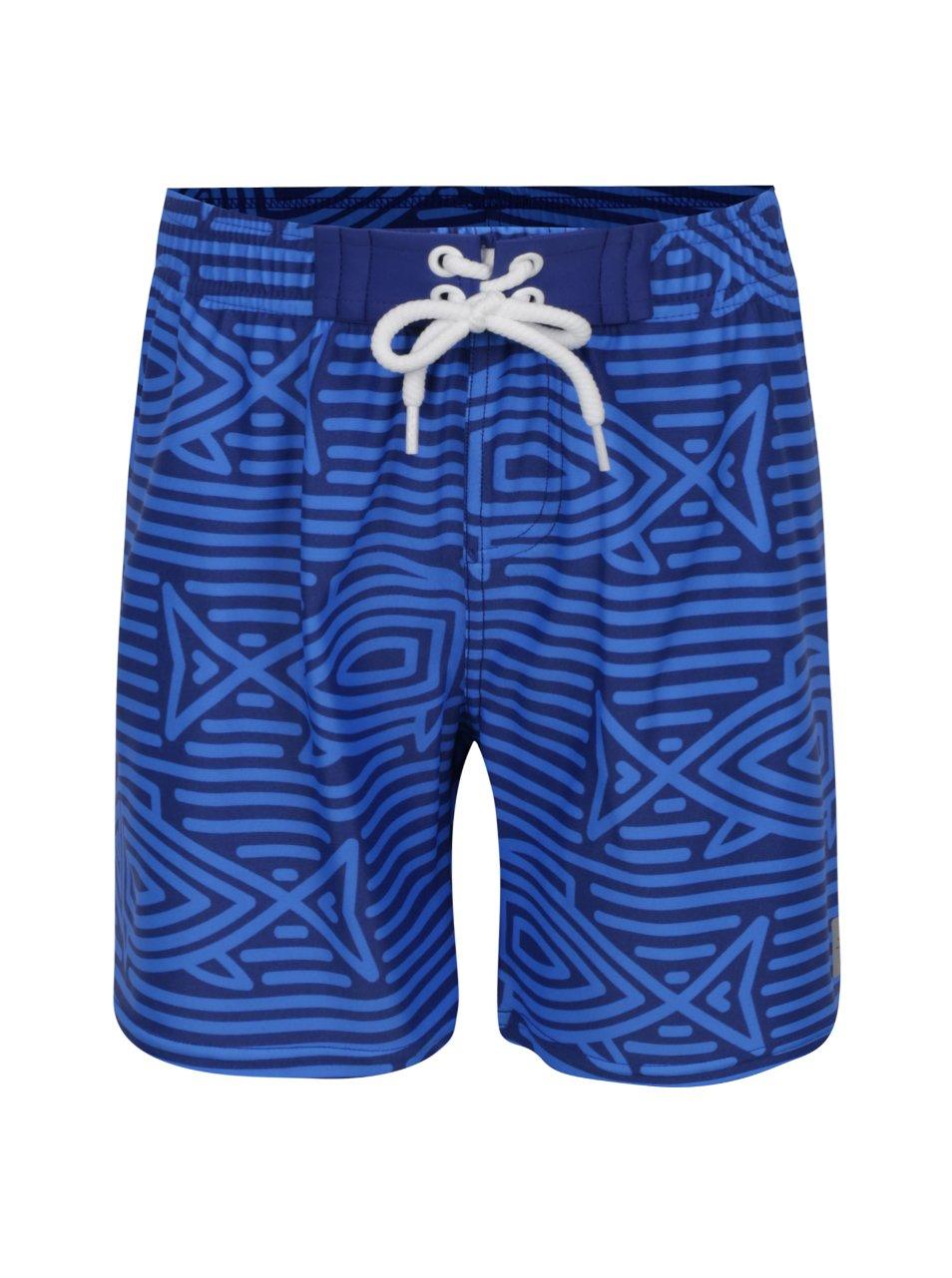 Tmavě modré vzorované klučičí plavky Reima Biitzi