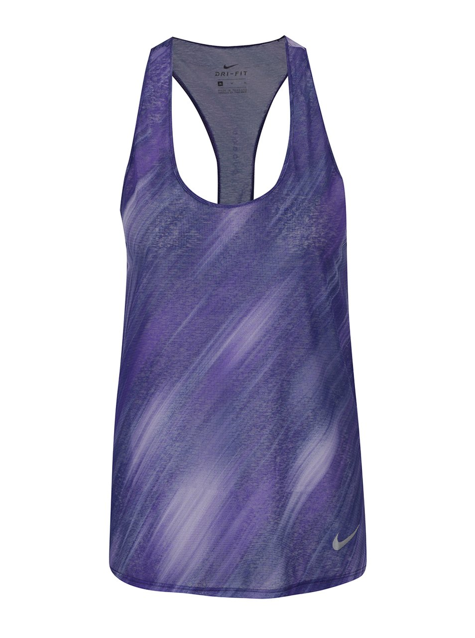 Fialové žíhané dámské funkční tílko Nike