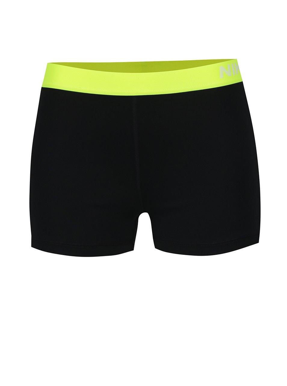 Žluto-černé dámské funkční kraťasy Nike