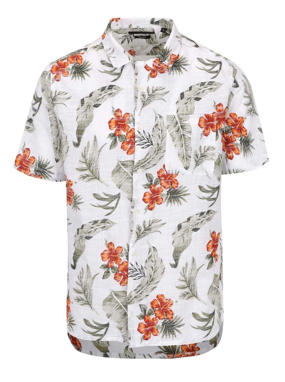 Krémová košile s tropickým vzorem ONLY & SONS Alexis