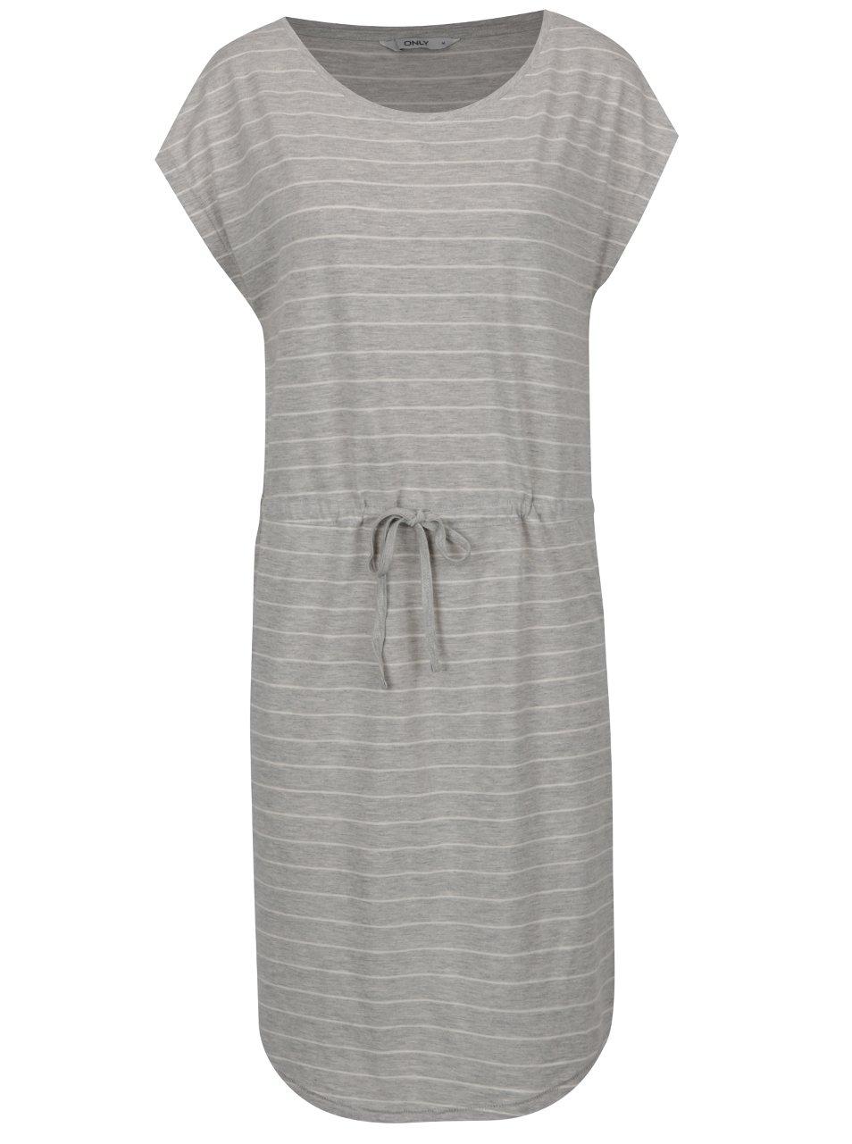 Šedé pruhované šaty ONLY May