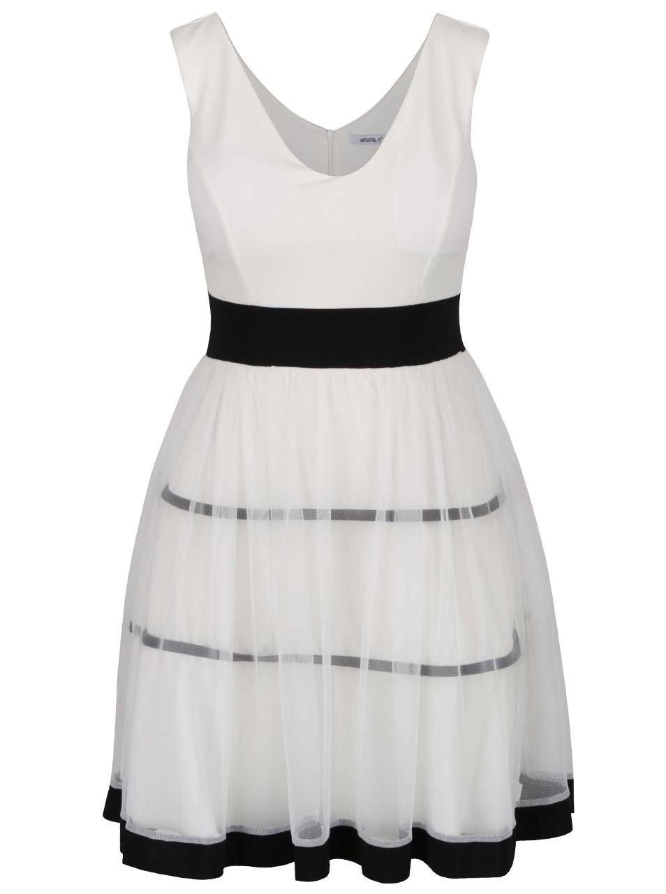 Krémové šaty s pruhy Haily´s Marita