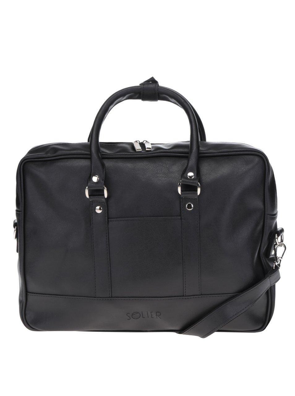 Černá pánská taška na notebook Solier