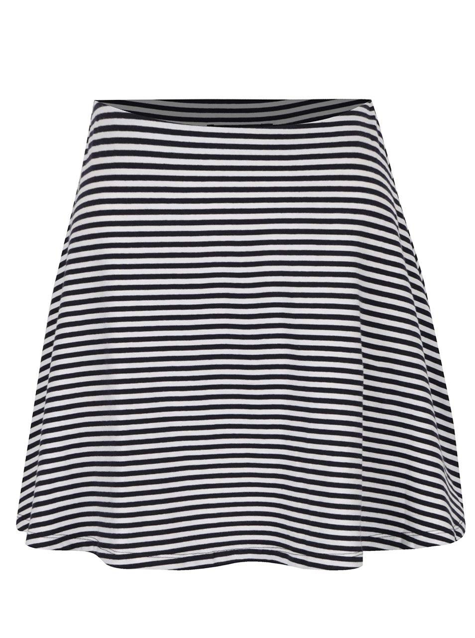 Modro-bílá pruhovaná áčková sukně TALLY WEiJL