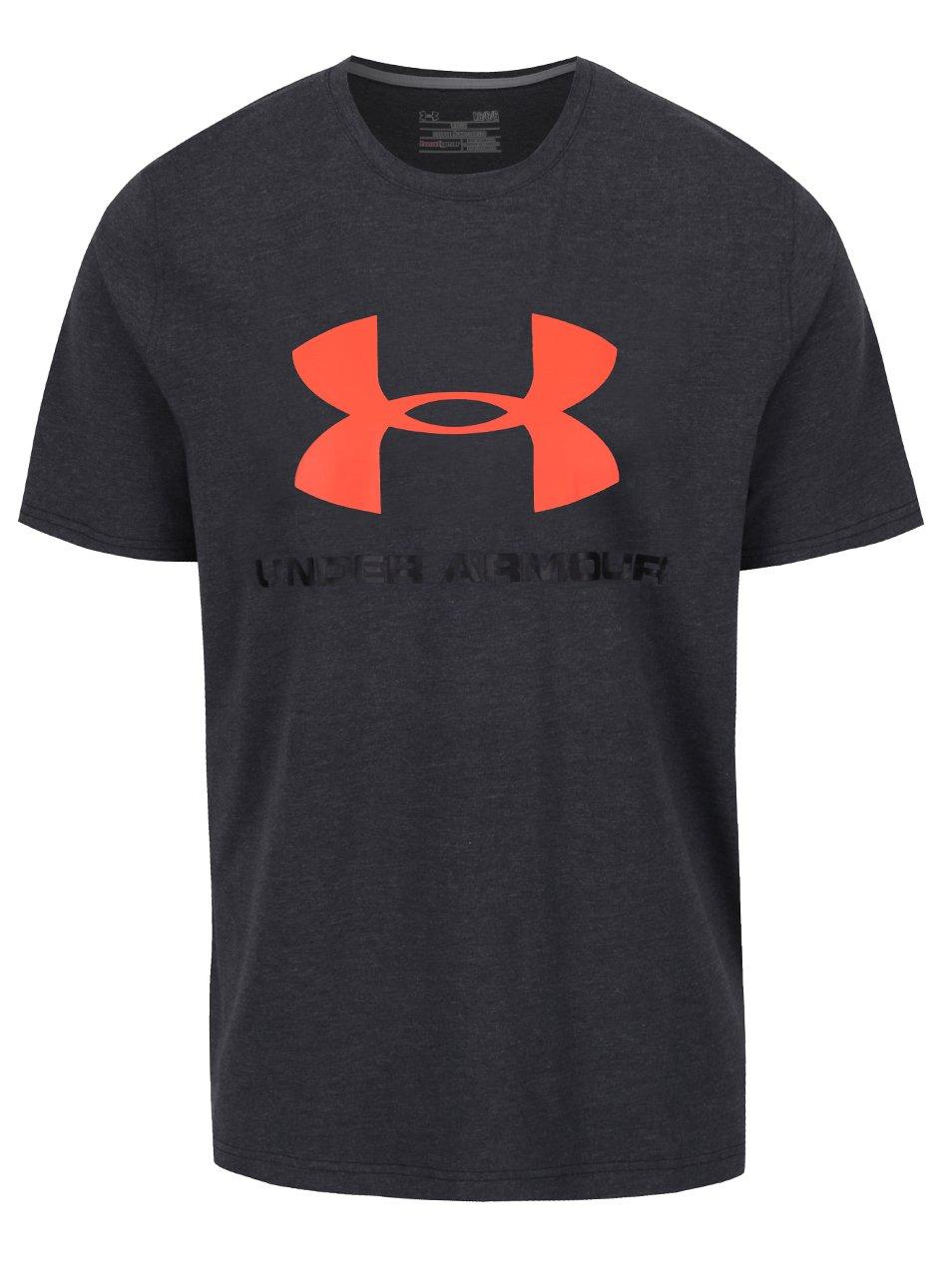 Šedé pánské funkční triko s potiskem Under Armour Sportstyle Logo
