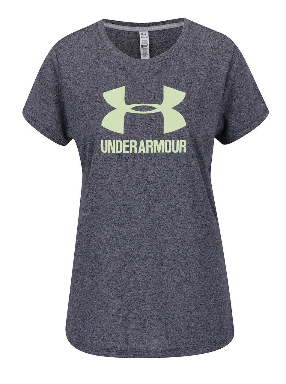Modré dámské žíhané funkční triko Under Armour Threadborne