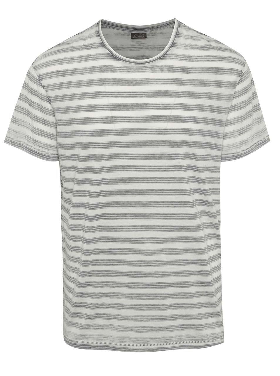 Bílé pruhované triko Jack & Jones Burn