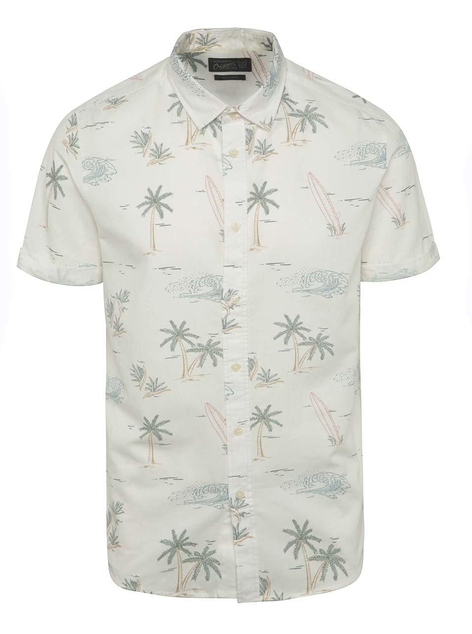 Krémová vzorovaná košile Jack & Jones Froth