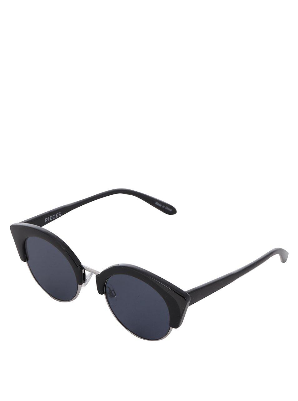 Černé sluneční brýle Pieces Kate