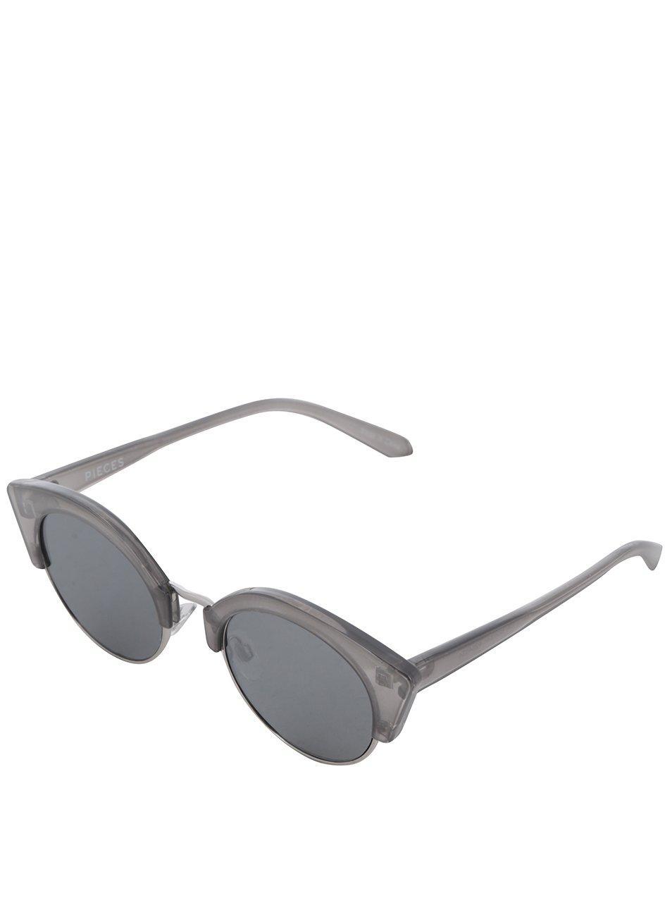 Šedé sluneční brýle Pieces Kate