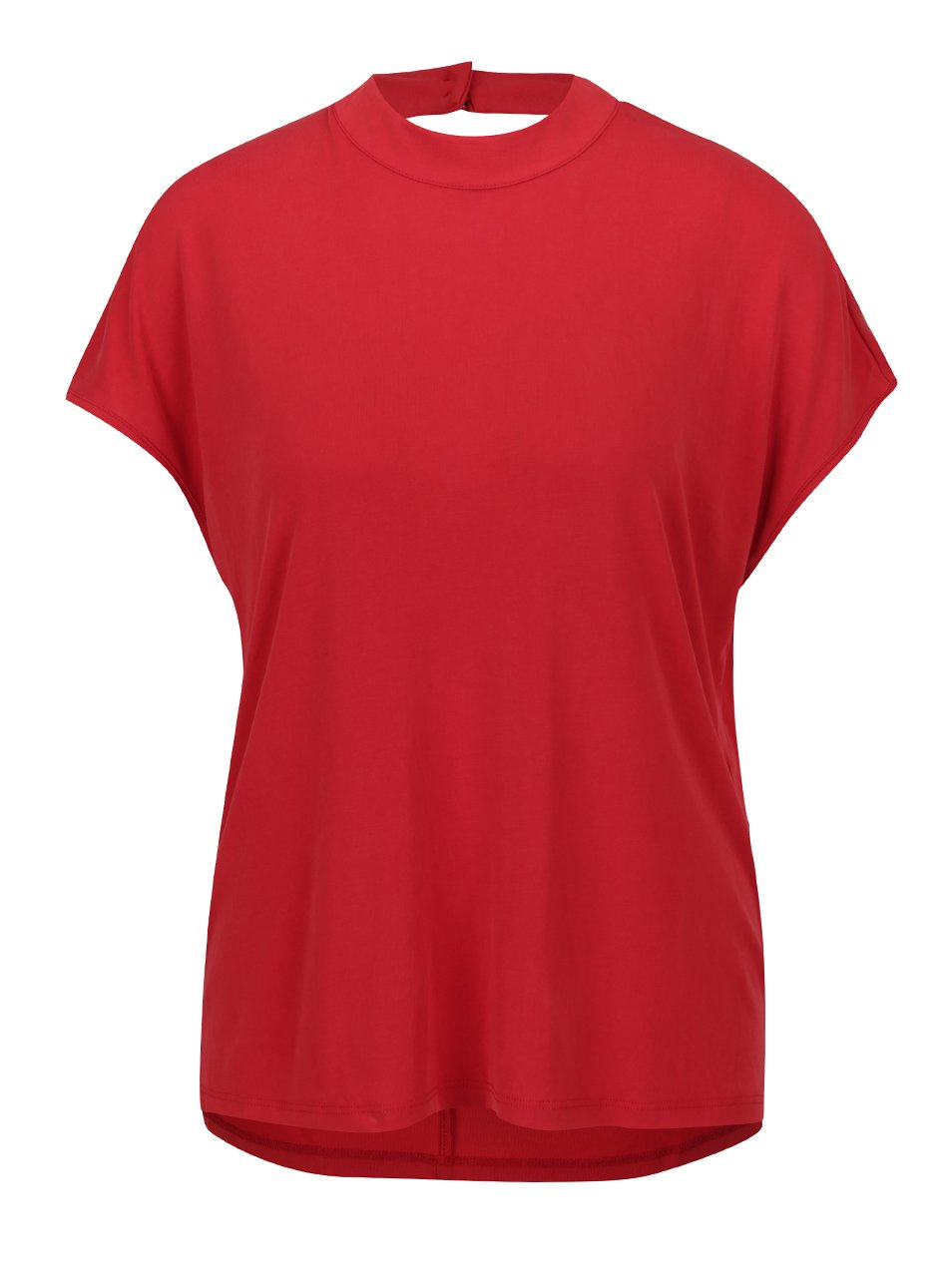Červený top se stojáčkem a průstřihem na zádech ONLY Tula