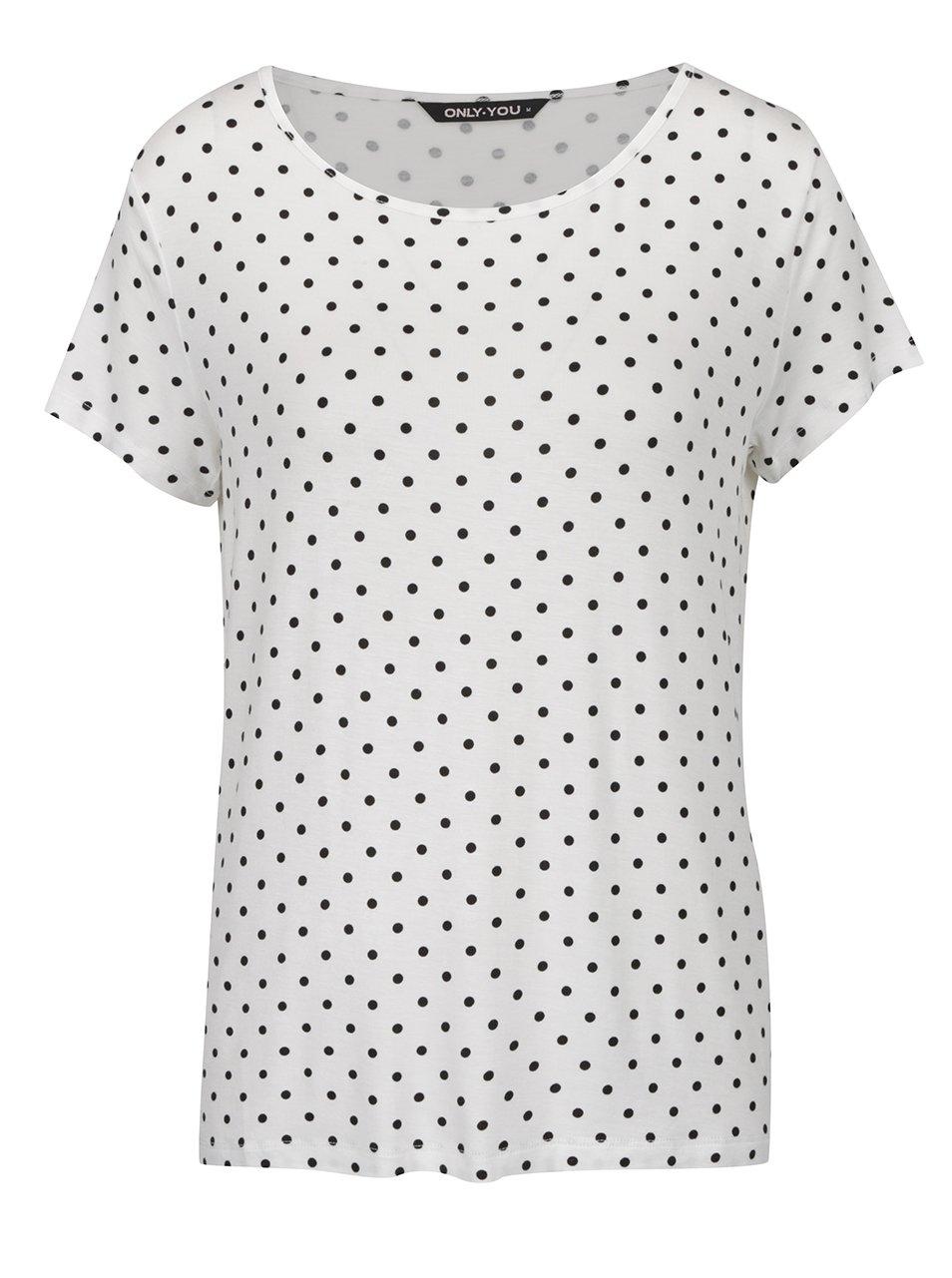 Bílé tričko s puntíky ONLY Arli