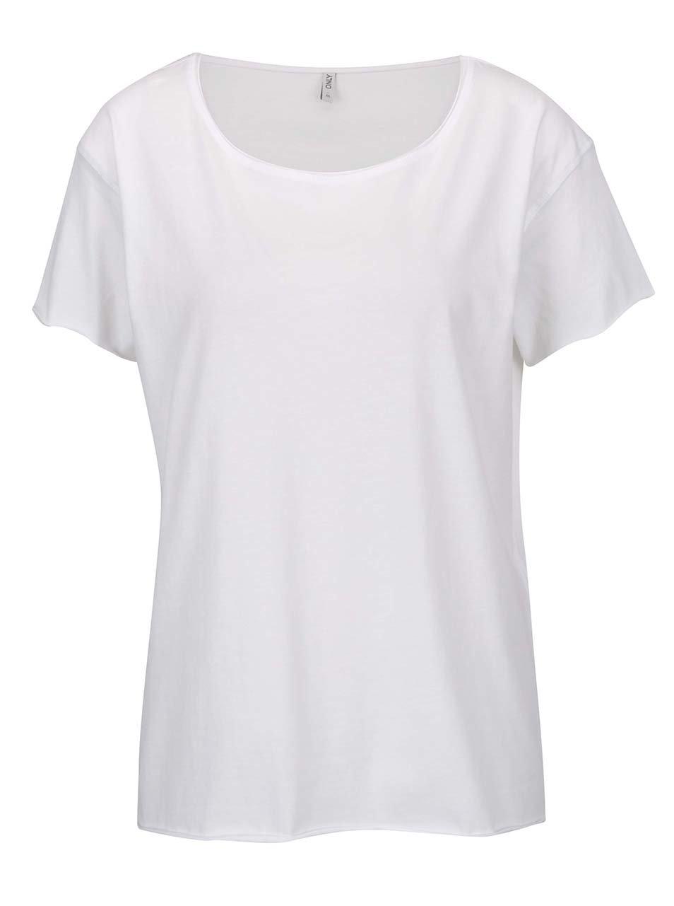 Bílé volné tričko ONLY Vivi