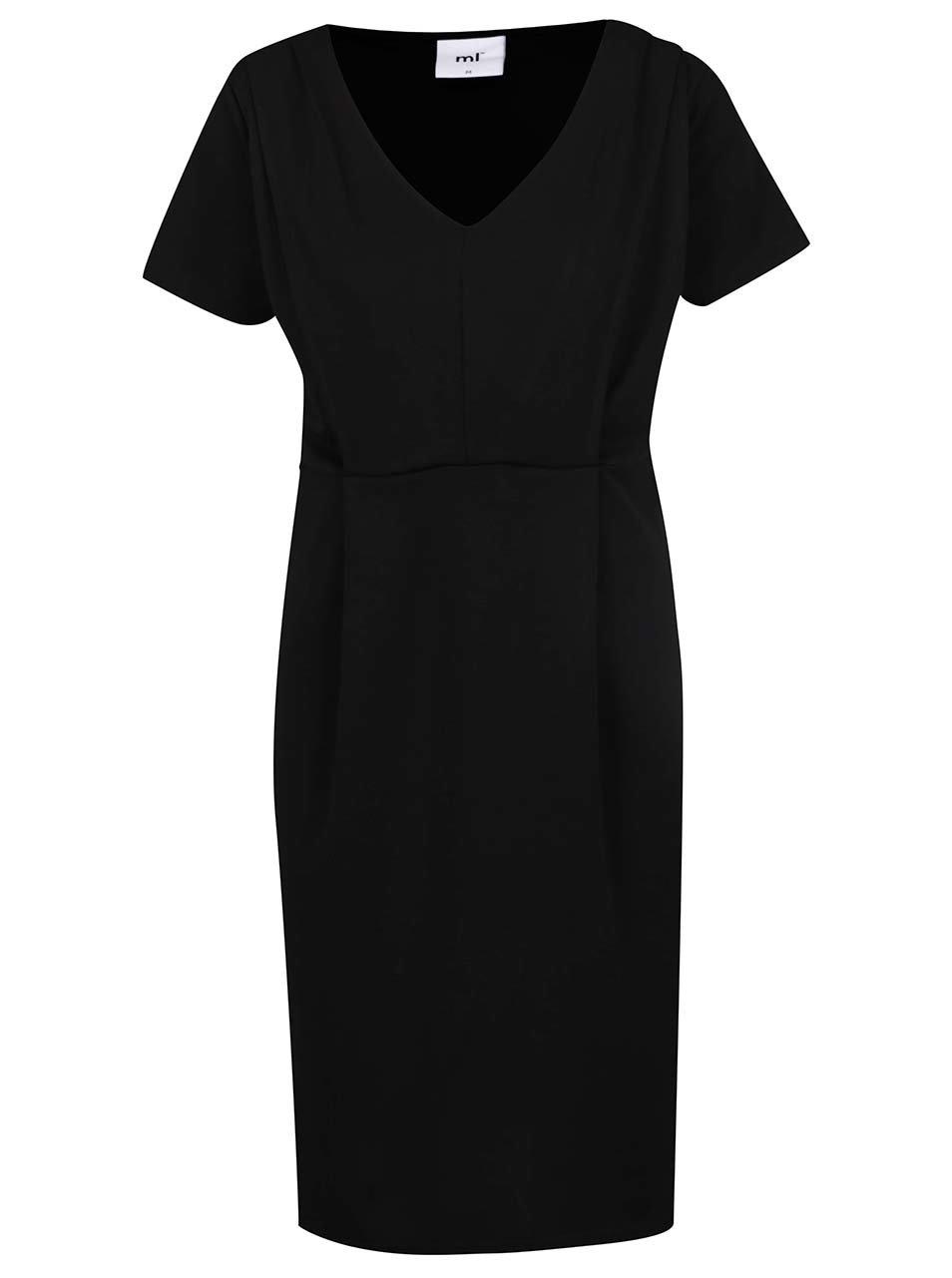 Černé těhotenské/kojicí šaty Mama.licious Yolana