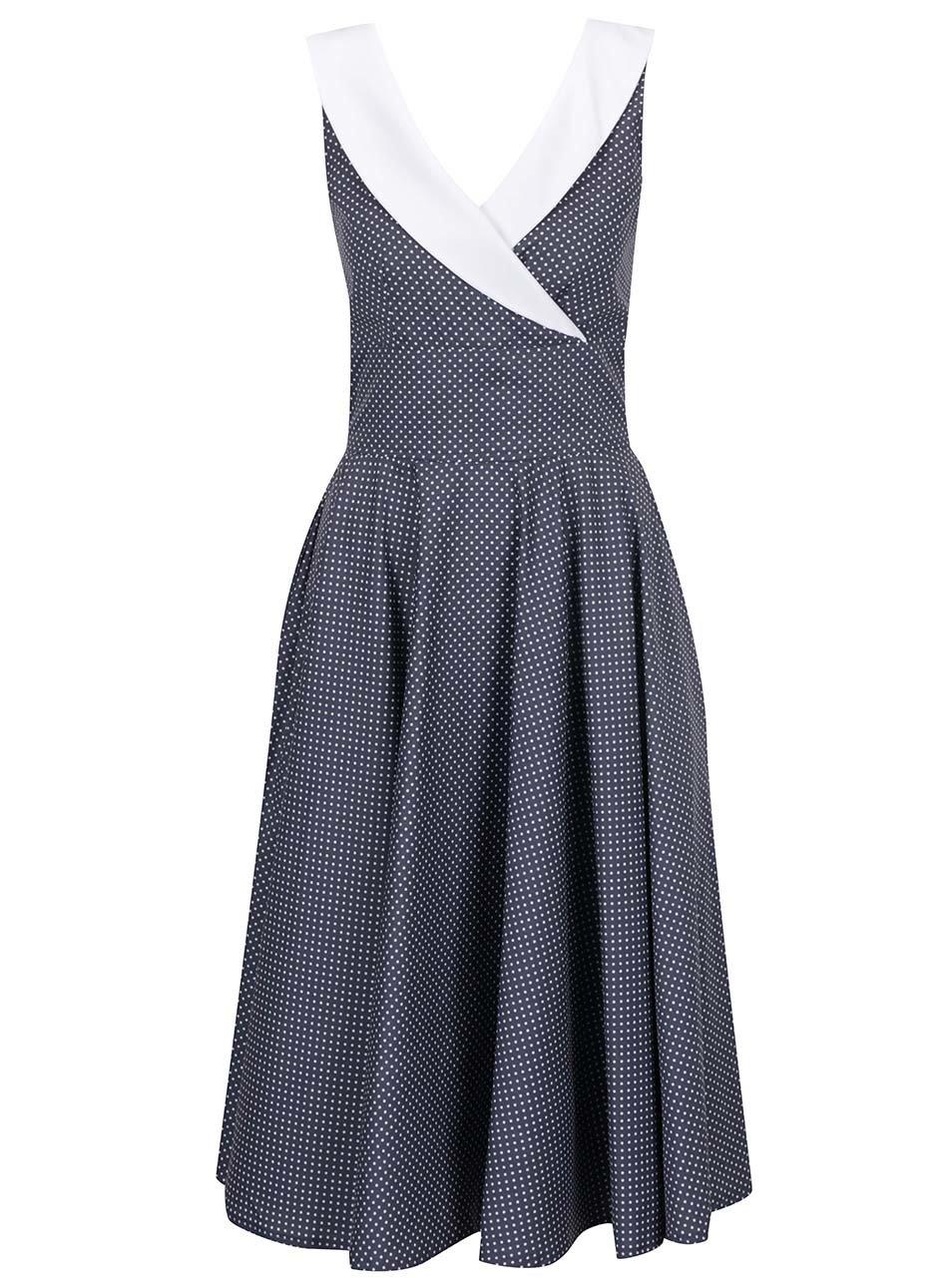 Šedé puntíkované šaty Lazy Eye Madison