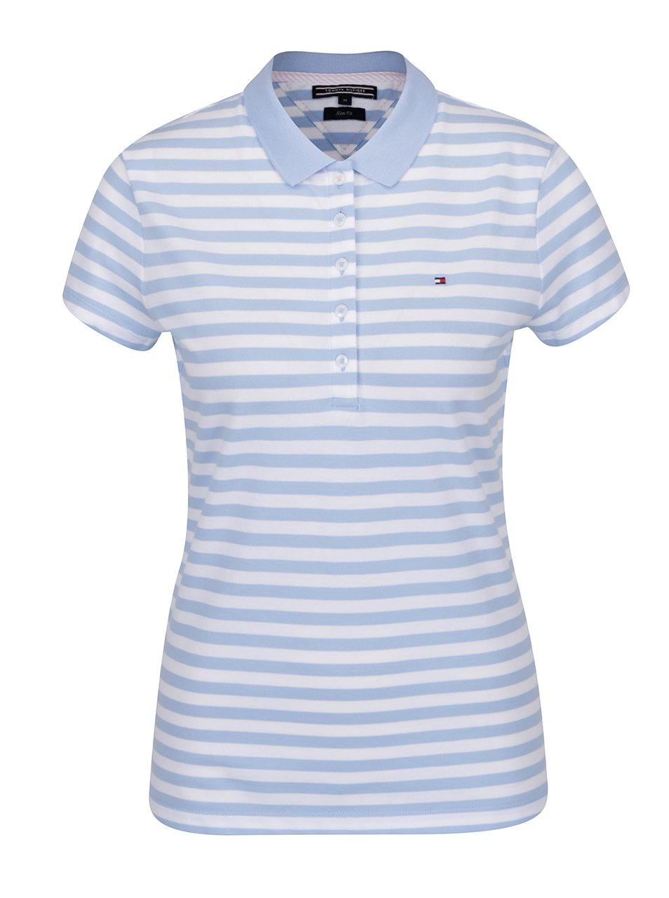 Modro-bílé pruhované polo tričko Tommy Hilfiger