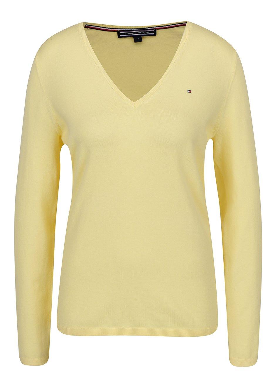 Žlutý dámský lehký svetr Tommy Hilfiger