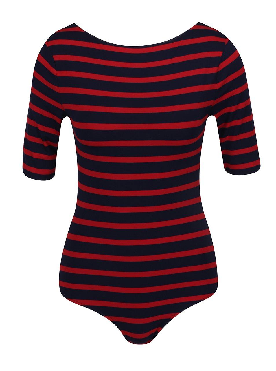 Červeno-modré dámské pruhované body Tommy Hilfiger