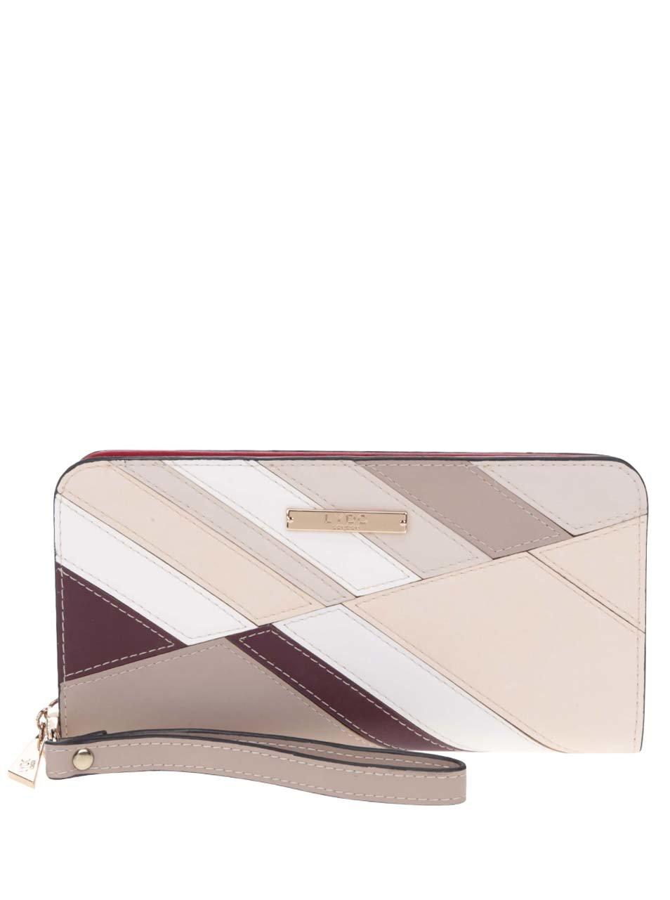 Krémovo-béžová peněženka s poutkem LYDC