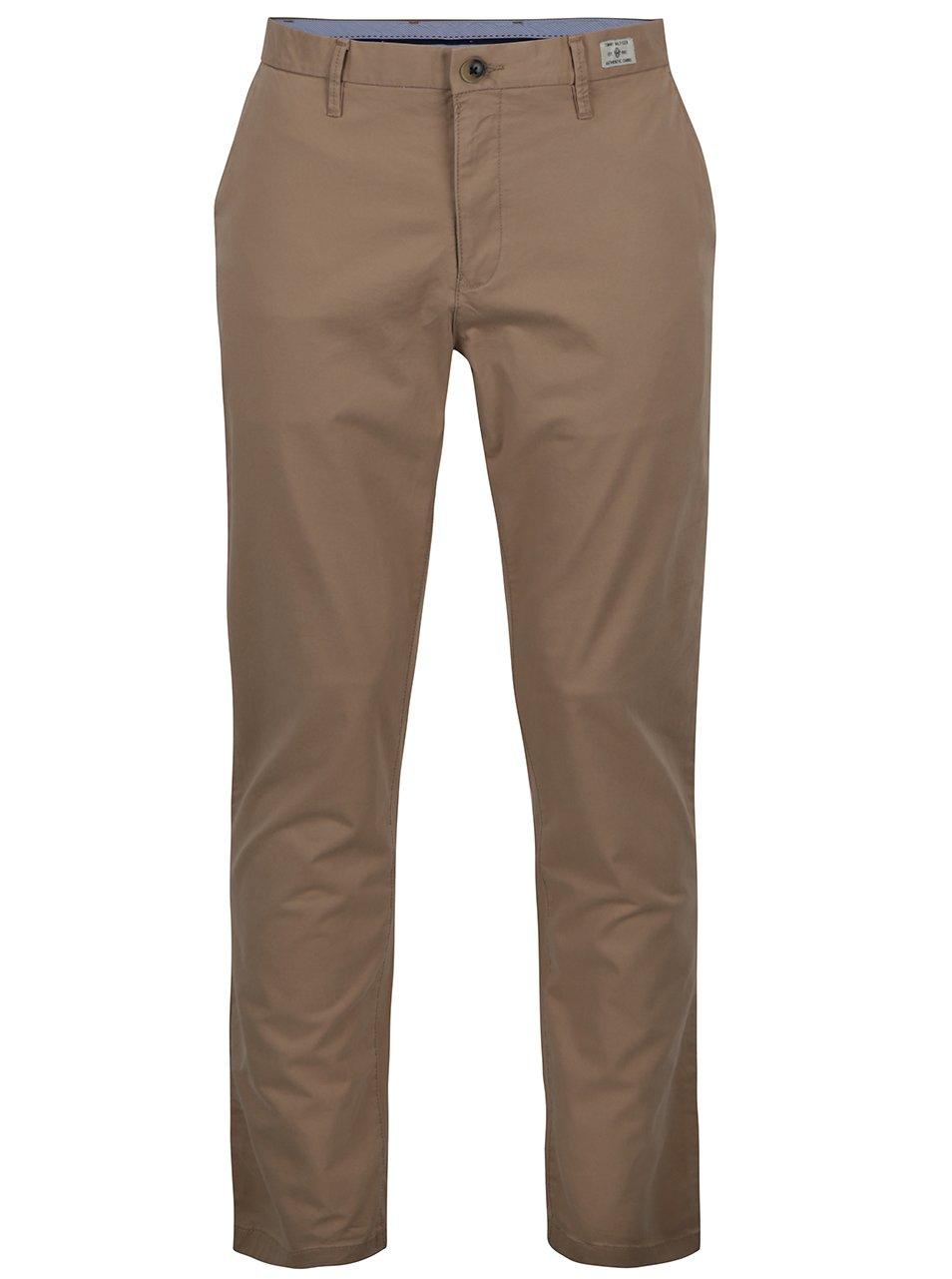 Béžové pánské chino kalhoty Tommy Hilfiger