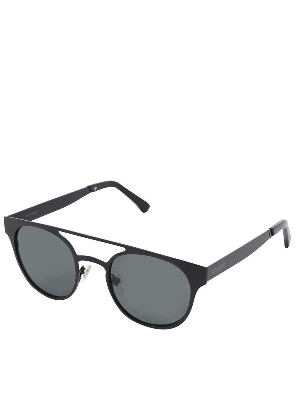 Černé unisex sluneční brýle Komono Finley