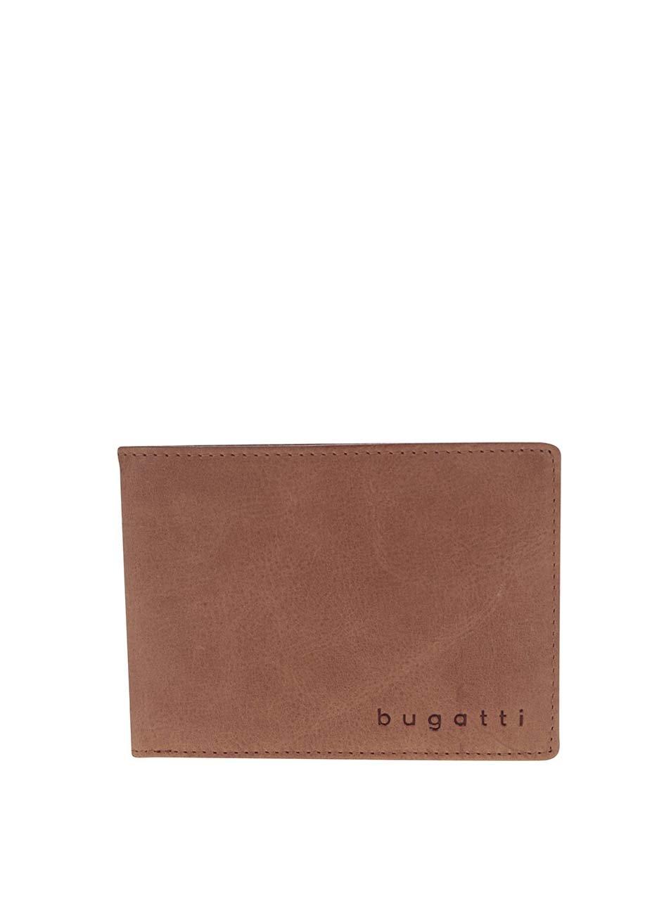 Světle hnědá pánská kožená peněženka bugatti