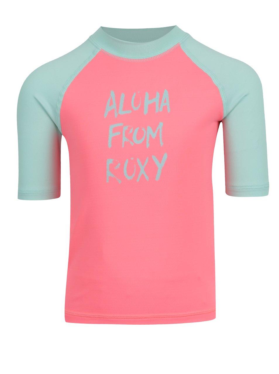Neonově růžové holčičí plavkové tričko Roxy Sail