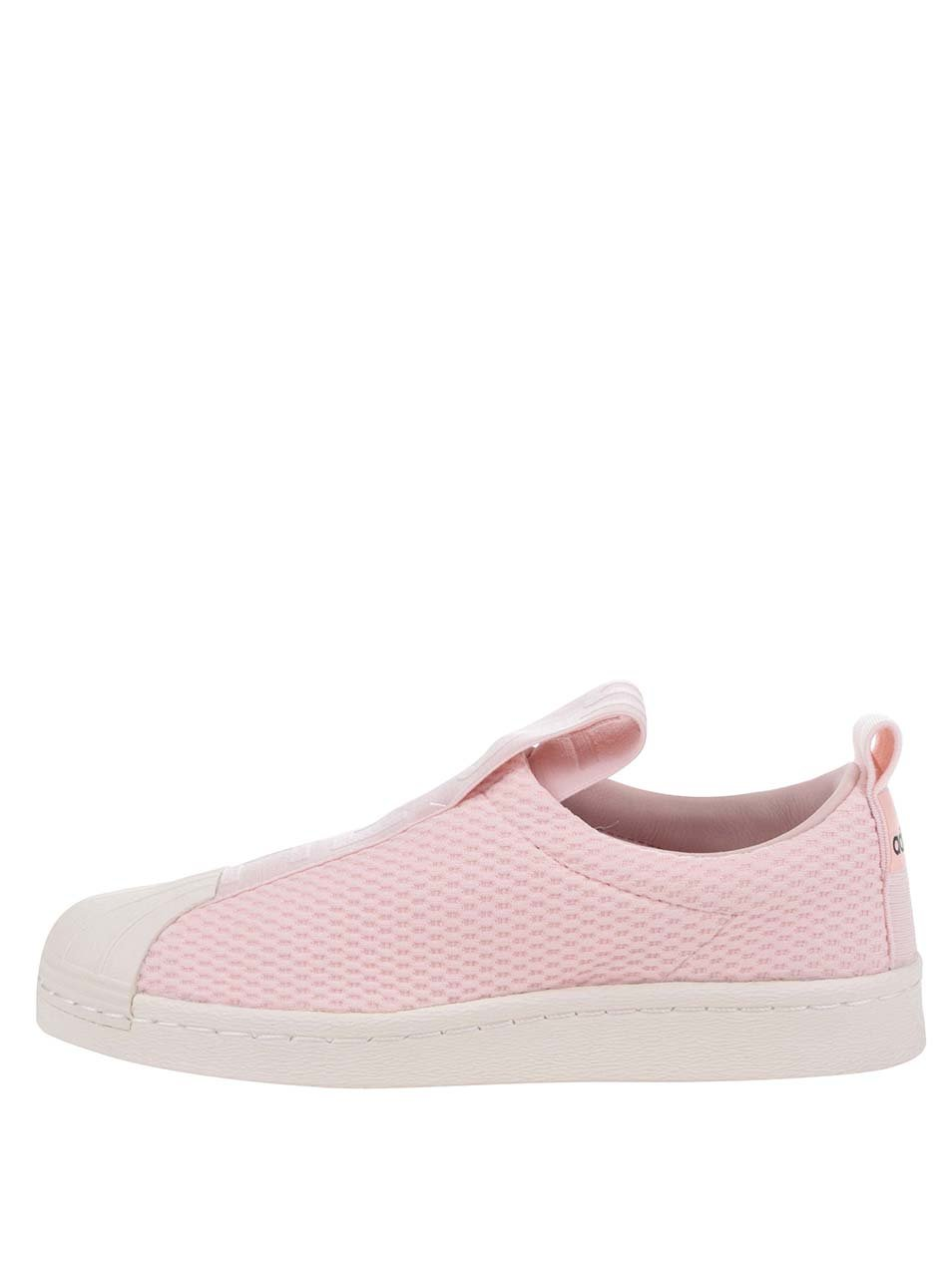Růžové dámské slip on adidas Originals Superstar