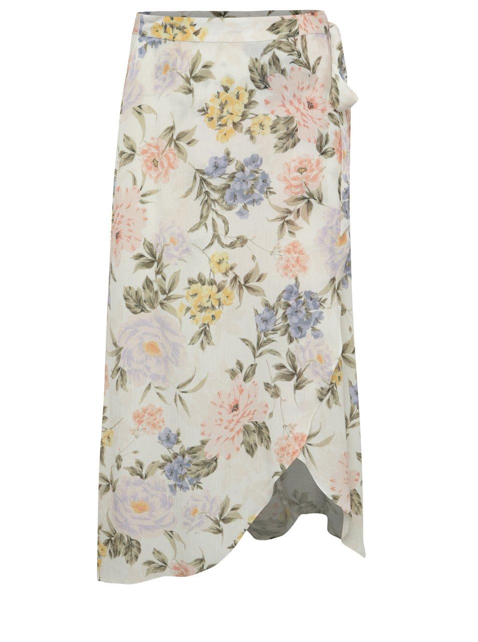 květovaná zavinovací midi sukn? Miss Selfridge