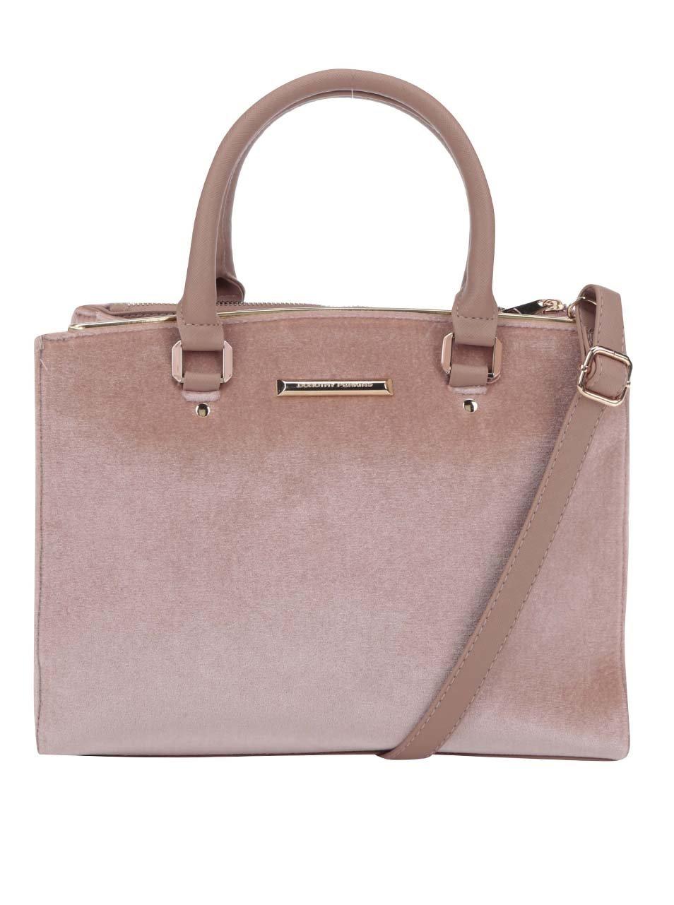 Růžová kabelka s detaily ve zlaté barvě Dorothy Perkins