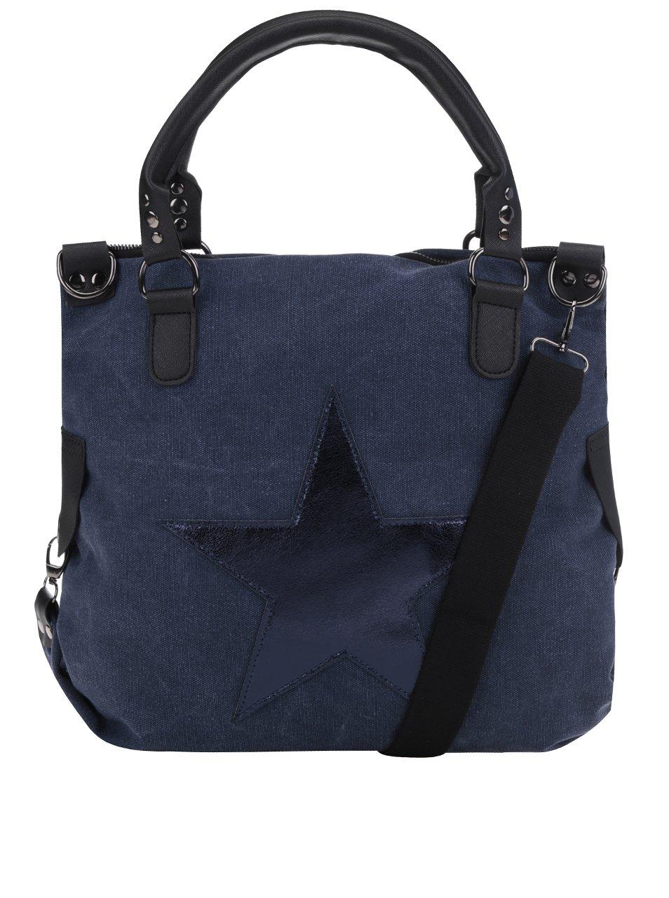 Tmavě modrá kabelka s nášivkou hvězdy Haily´s Star M