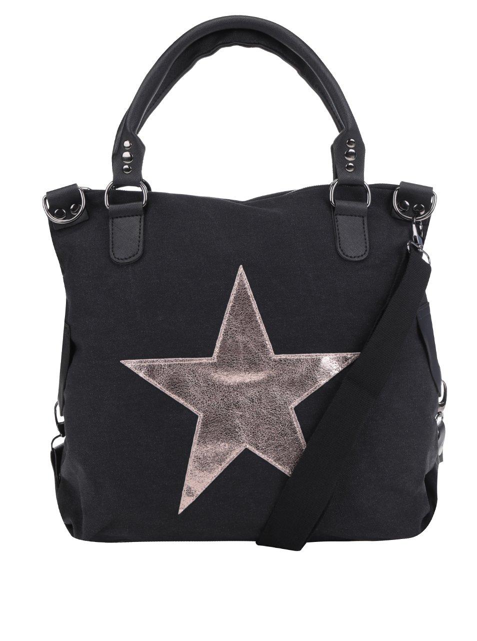 Černá kabelka s nášivkou hvězdy Haily´s Star M