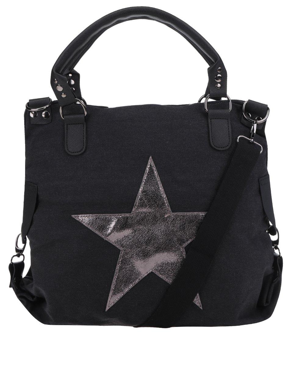 Tmavě šedá kabelka s nášivkou hvězdy Haily´s Star M