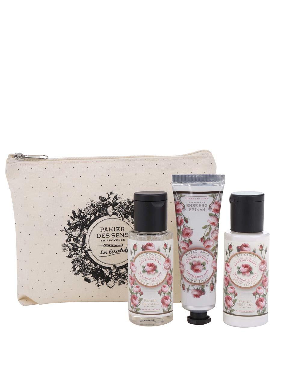 Cestovní kosmetická sada Panier des Sens Růže