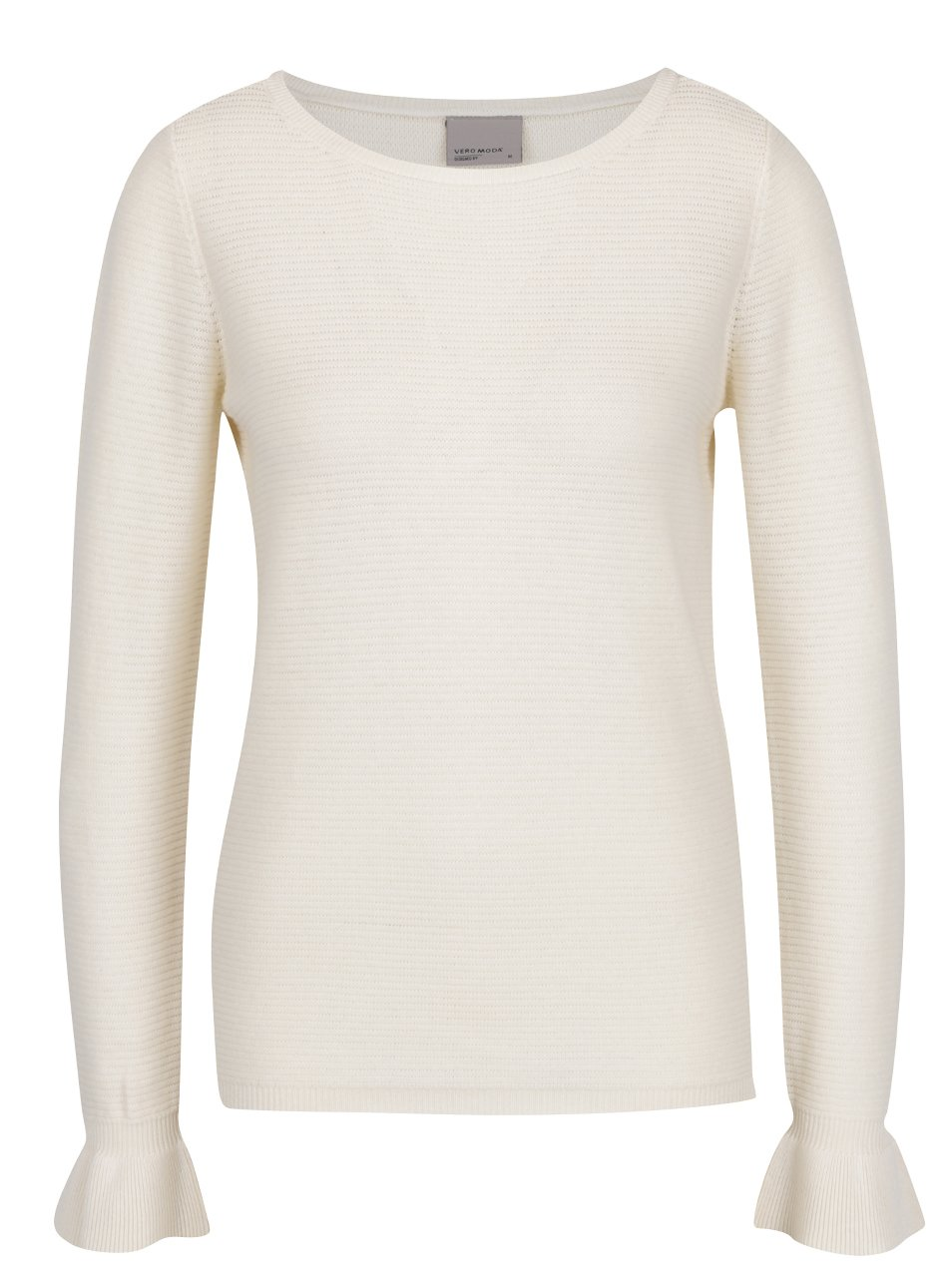Krémový lehký žebrovaný svetr VERO MODA Nice