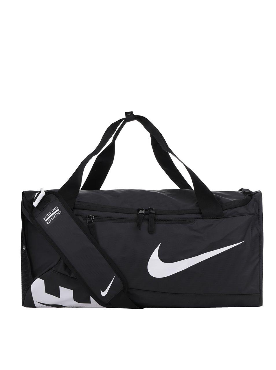 Černá unisex velká sportovní voděodolná taška s potiskem Nike