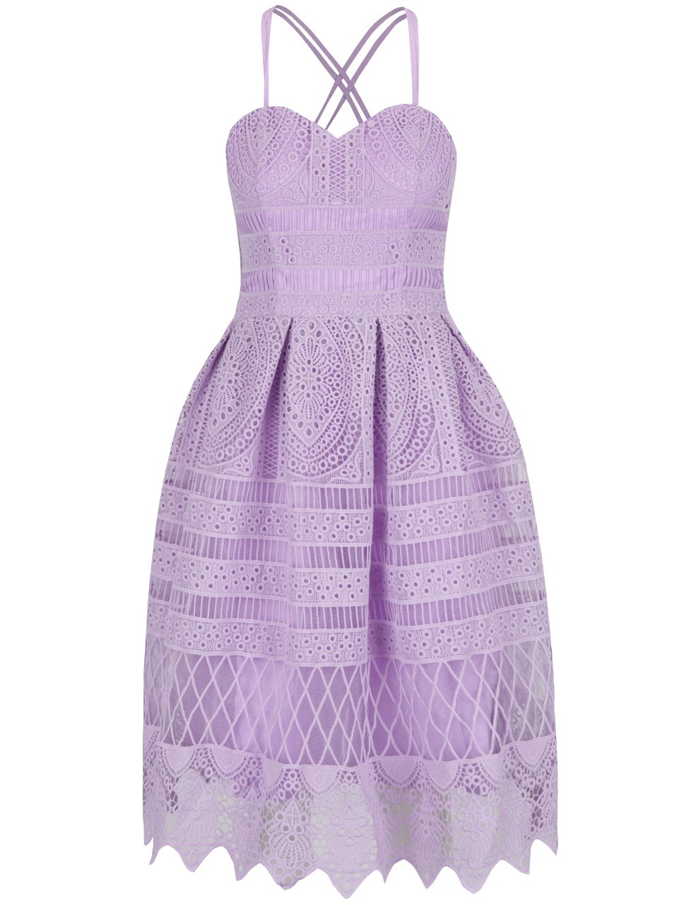 cdeffb9f87e8 Fialové čipkované šaty Chi Chi London